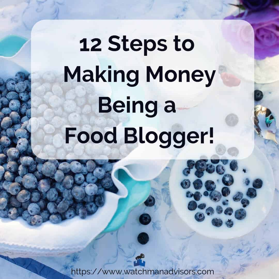how to make money being a food blog marketer in 12 steps