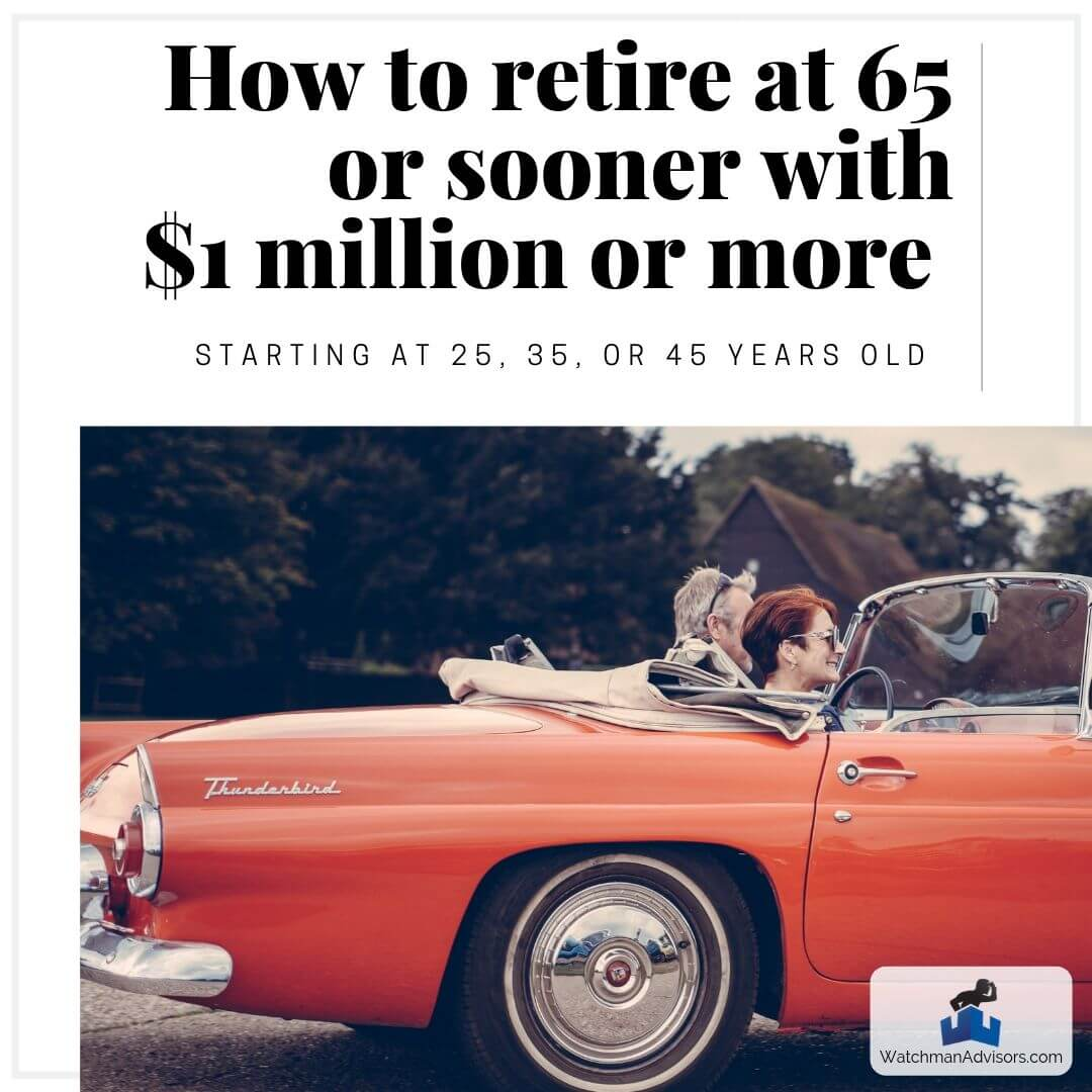 How to Retire at 65 or Sooner With $1 Million or More Starting at 25, 35, or 45 Years Old