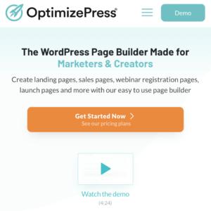 landing page builder for Wordpress - optimizePress plugin
