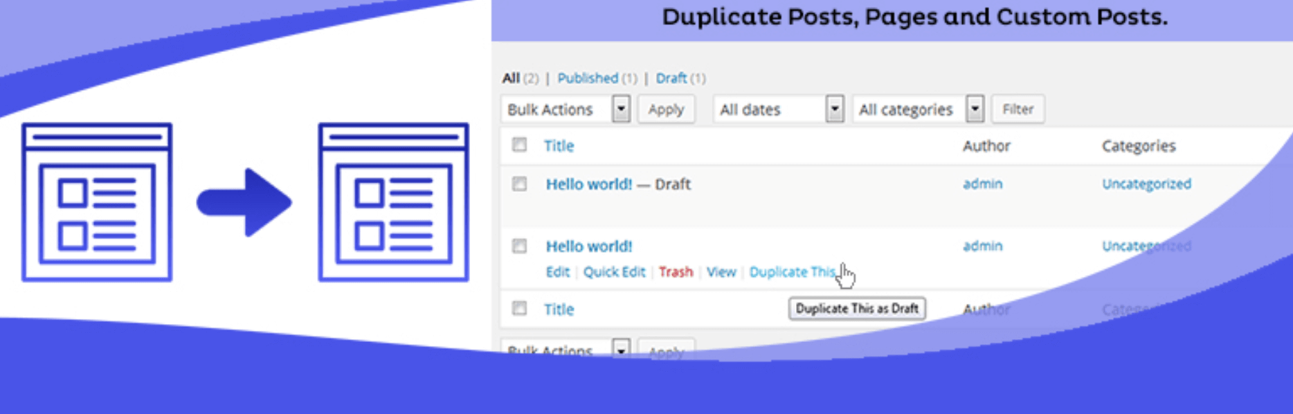 How To Duplicate A Page In WordPress using the Duplicate Page WordPress Plugin