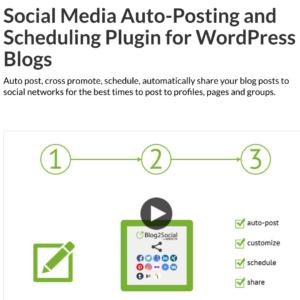 Blog2Social Wordpress Social Media Auto Posting Plugin